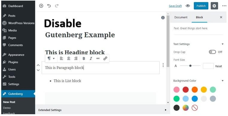 Disable-Gutenberg-on-WordPress-5.0-to-get-Classic-editor-back